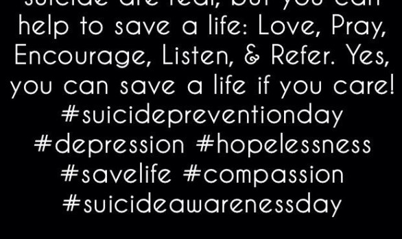 Depression, hopelessness, & suicide are real...