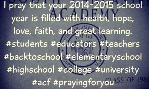 I pray that your 2014-2015 school year is filled with...