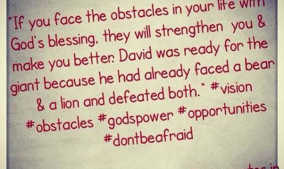 If You Face Obstacles...