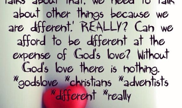 I've heard it said: 'The love of God is important but...