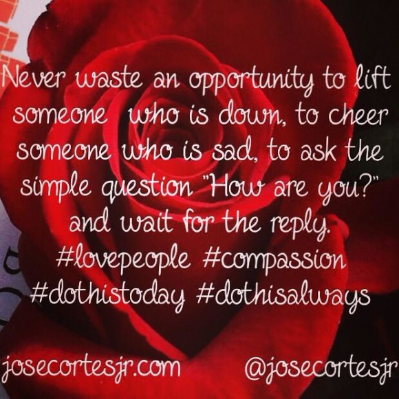 Never waste an opportunity...