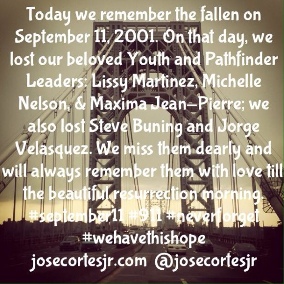 Today we remember the fallen on September 11...