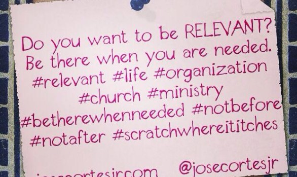 Do you want to be RELEVANT?