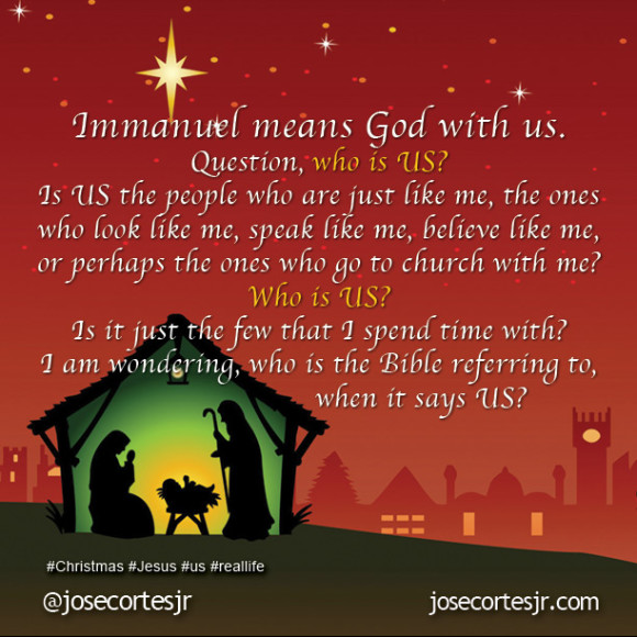 Immanuel means God with US!